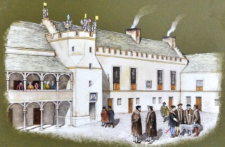 Artist impression of how the King's Old Building might have looked in 1500