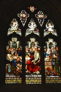 Stained glass window, Church of the Holy Rude