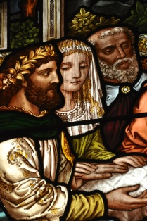 Detail of stained glass window