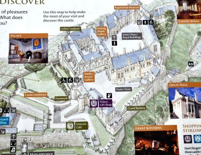 Map of Stirling Castle