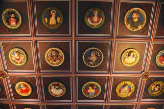 The Stirling Heads ceiling of King James V Inner Hall