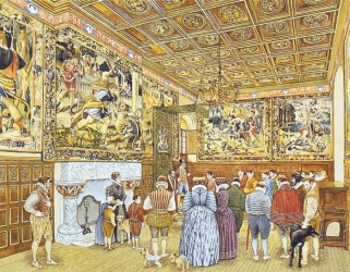 Artist vision of King James V Inner Hall