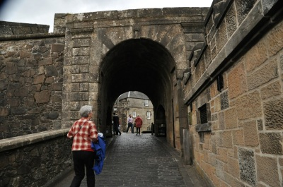 Entrance to the original front of Stirling Castle