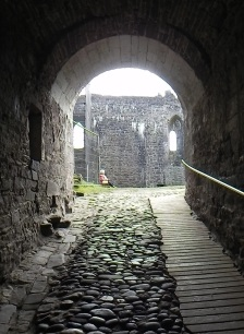 Long entrance to the castle