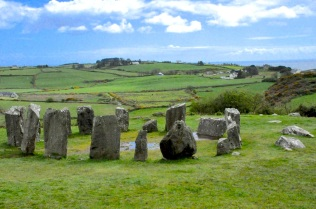 The bronze-age Drombeg stone circle (with a view)