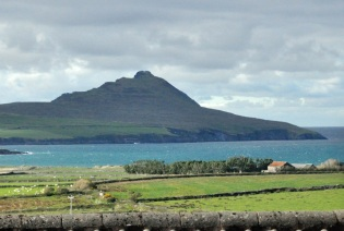 View from our hotel in Ballyferriter