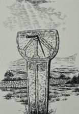 Sketch of the sundial in operation