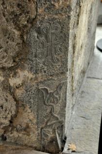 Carving at a doorway