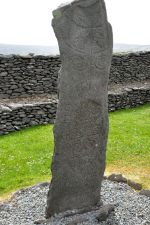 The Reask Stone with carvings