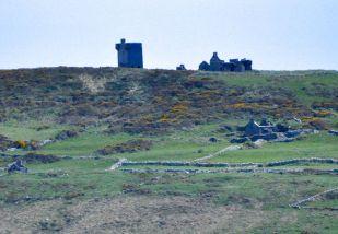 Abandoned castle, houses