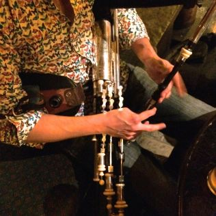 The uilleann pipes, being played
