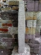 6th century stone pillar carved with the alphabet