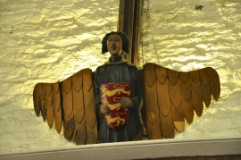A wooden angel