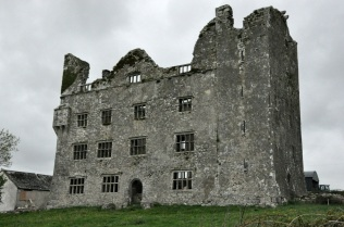 The Leamaneh Castle, with the original tower house visible on the right side