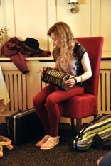 Tara Howley on the concertina