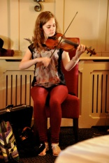 Tara Howley on the fiddle