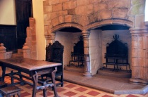 Unusual double fireplace in the Lord's Hall