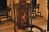 A very fancy (but out-of-focus) chair