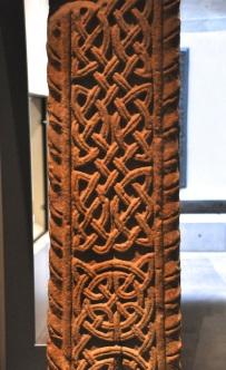 Shaft of a freestanding sandstone cross from an Anglican settlement