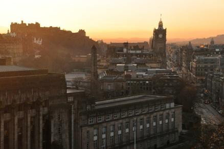 Princess Street, with Edinburgh Castle on the left
