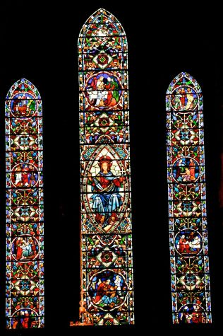 The beautiful O'Brien Memorial Window of 1860