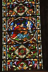 Detail of the O'Brien Memorial Window, lower central panel
