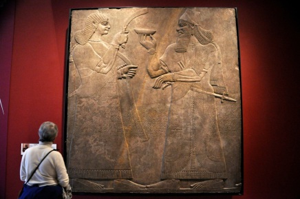 Carved panel from Assyria, late 800's BC