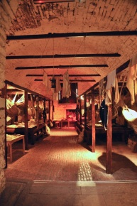 Recreated 1781 prison in the castle vaults