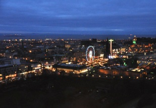 Edinburgh at night, from Edinburgh Castle