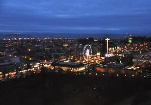 Edinburgh at night, from Edinburgh Castle