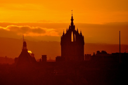St. Giles Cathedral and the Edinburgh skyline