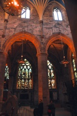 Looking across aisles of St. Giles Cathedral