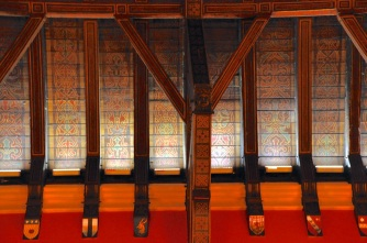 Detail of the hammerbeam roof