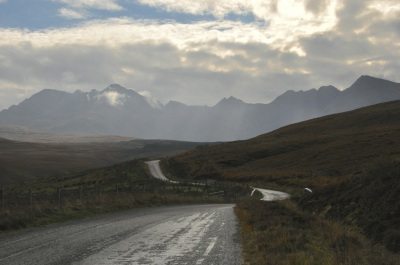 On the road to the Cuillin Hills