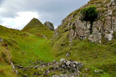 The Fairy Glen coming into sight