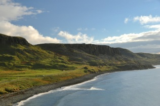 Mountains near the tip of the Trotternish Peninsula