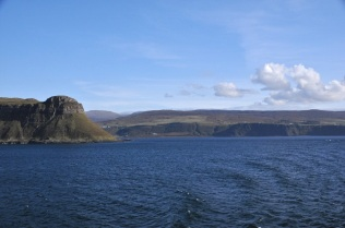 Raasay Island and the Scottish mainland