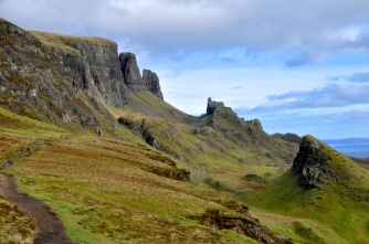 "Start of the Quiraing trail, with ""The Prison"" in the distance"