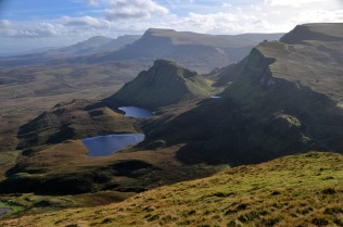 Looking down the Trotternish Ridge from the mountain top