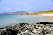Beach, southern Isle of Harris; with mountain backdrop!