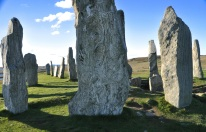 The stone circle and the chambered tomb