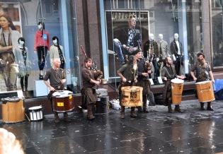 A wild street band