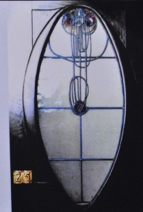 Studio Door (with typical Mackintosh tracery)