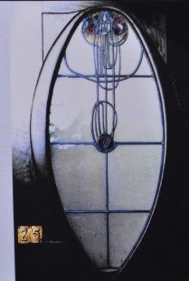 Studio Door (with typical Mackintosh tracery)