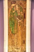 "Margaret Mackintosh's gesso panel, ""Oh Ye, all Ye that walk in Willow Wood"""