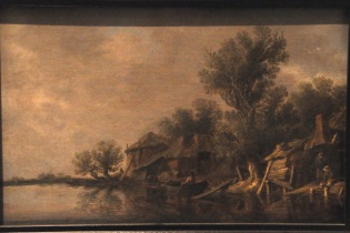 Jan van Goyen: Cottages and Fishermen by a River, 1631