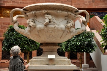 The Warwick Vase, 100-200 AD, found in Hadrian's Villa at Tivoli; reconstructed