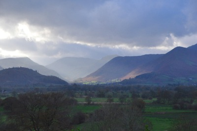 The Lake District, with a patch of bright