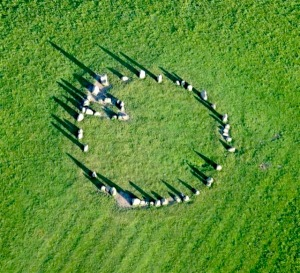Aerial view of the Castlerigg Stone Circle, picture stolen from the internet