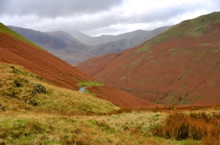 The road from Newlands Pass to Buttermere